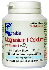 Schneider Magnesium und Calcium mit Vitamin E und D3